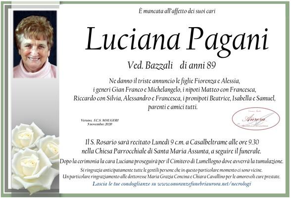 Necrologio di Luciana Pagani ved. Bazzali