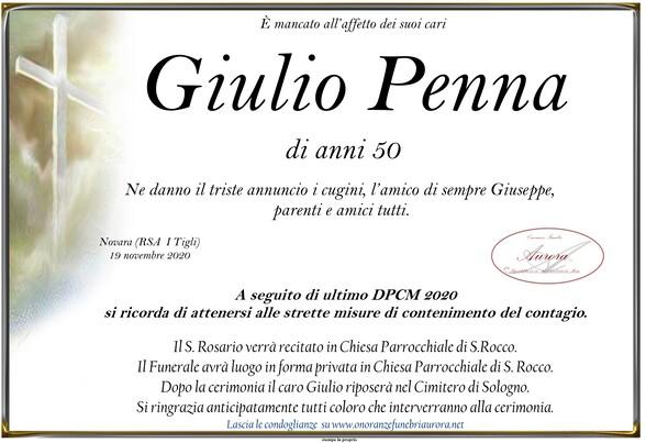 Necrologio di Giulio Penna