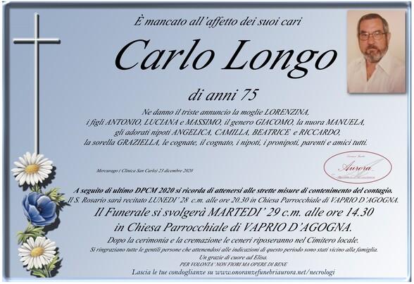 Necrologio di Carlo Longo