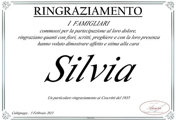 Ringraziamenti per Silvia Tugnolo ved. Laorenti.