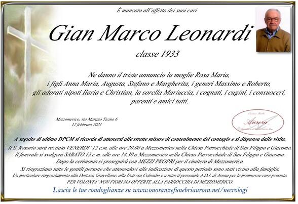 Necrologio di Gian Marco Leonardi