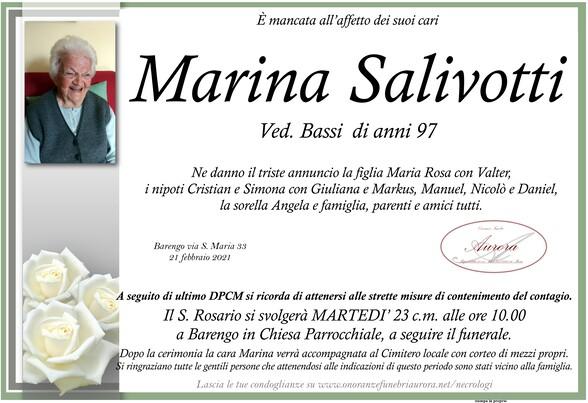 Necrologio di Marina Salivotti ved. Bassi