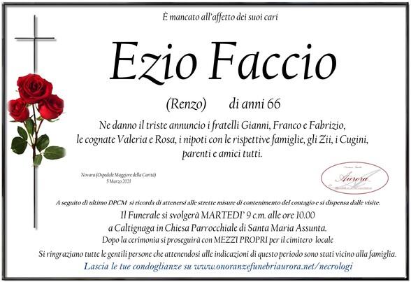 Necrologio di Ezio Faccio (Renzo)