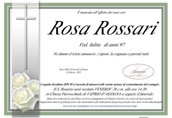 Necrologio di Rosa Rossari ved. Iulita