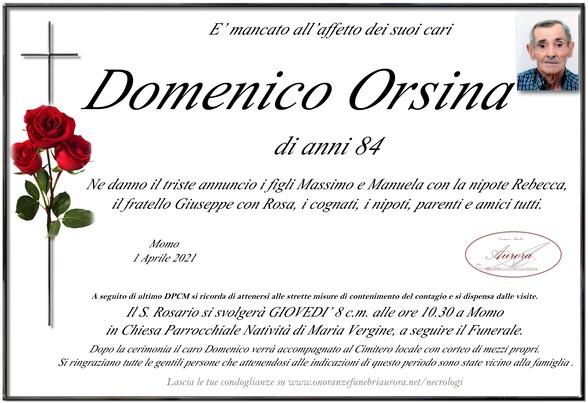 Necrologio di Domenico Orsina
