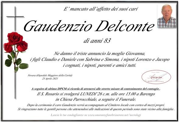 Necrologio di Gaudenzio Delconte