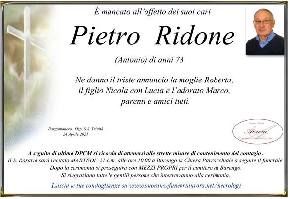 Necrologio di Pietro Ridone