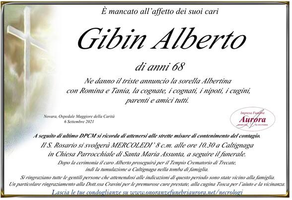 Necrologio di Alberto Gibin