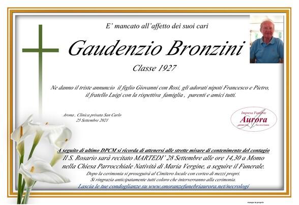 Necrologio di Gaudenzio Bronzini