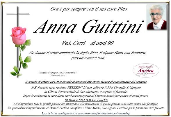 Necrologio di Anna Guittini  Ved. Cerri
