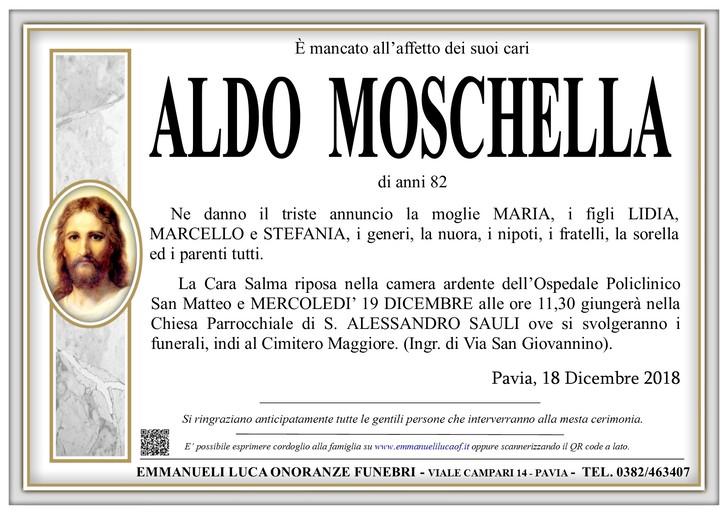 Necrologio di ALDO MOSCHELLA