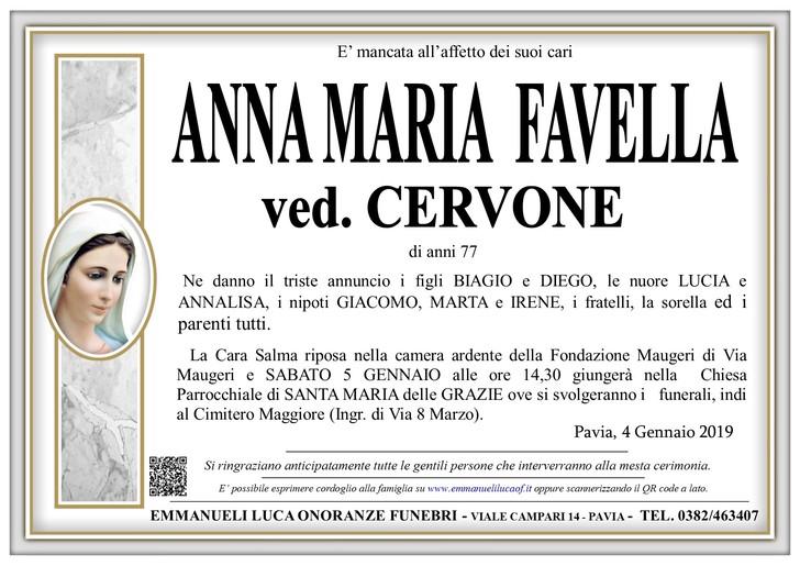 Necrologio di FAVELLA ANNA MARIA