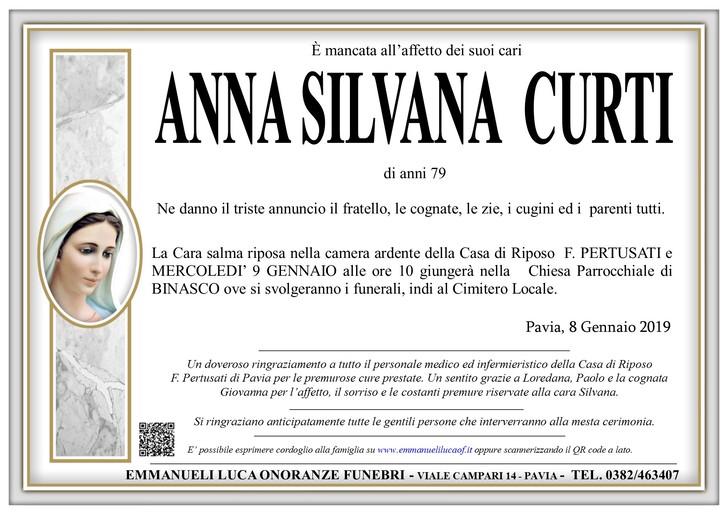 Necrologio di ANNA SILVANA CURTI