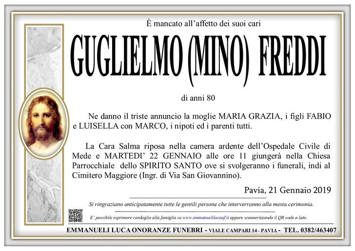 Necrologio di FREDDI GUGLIELMO