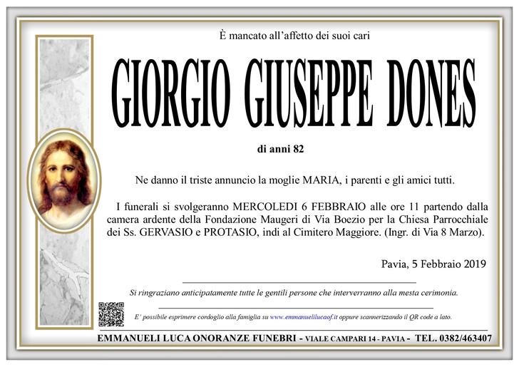 Necrologio di DONES GIORGIO GIUSEPPE