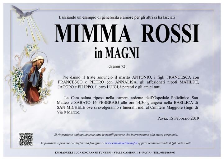 Necrologio di MARIA ROSSI