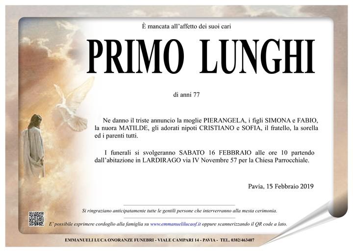Necrologio di PRIMO LUNGHI