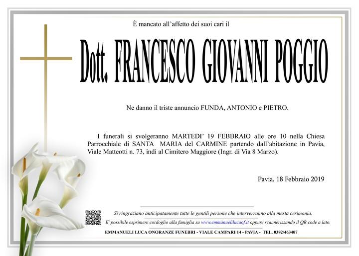 Necrologio di Dottor POGGIO FRANCESCO GIOVANNI