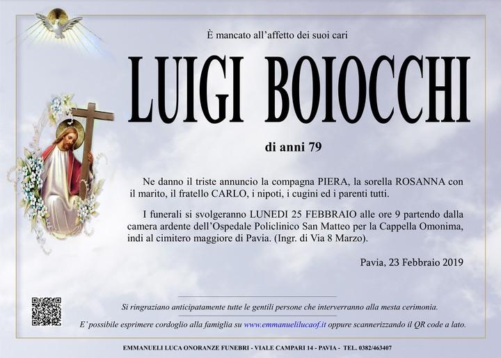 Necrologio di LUIGI BOIOCCHI