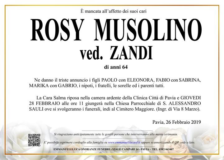 Necrologio di ROSY MUSOLINO