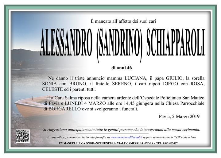 Necrologio di ALESSANDRO SCHIAPPAROLI