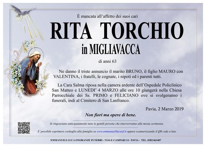 Necrologio di RITA TORCHIO