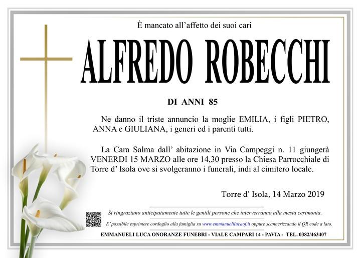 Necrologio di ALFREDO ROBECCHI