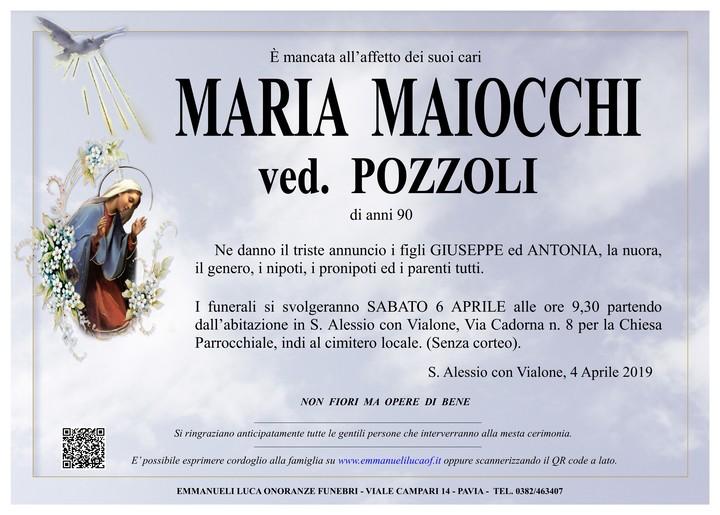 Necrologio di MARIA MAIOCCHI ved. POZZOLI