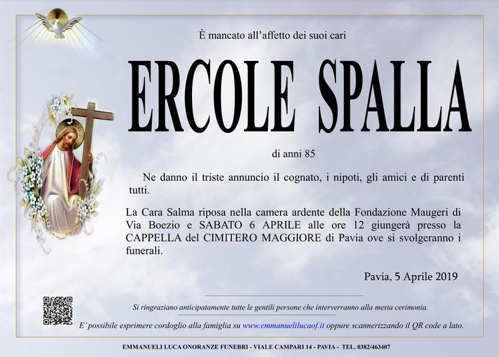Necrologio di ERCOLE SPALLA