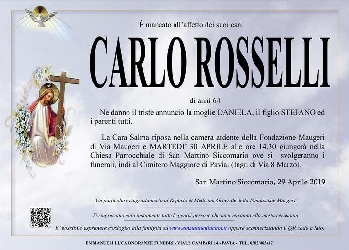Necrologio di ROSSELLI CARLO