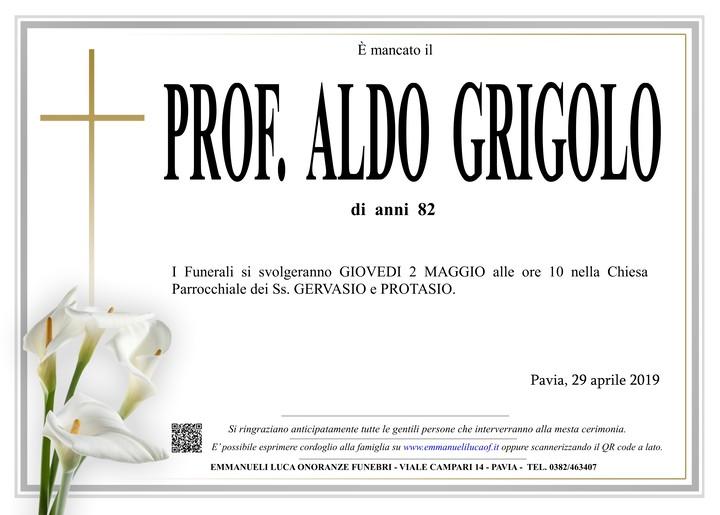 Necrologio di PROF. GRIGOLO ALDO