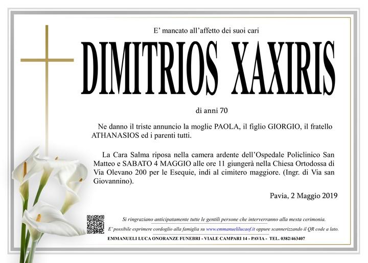Necrologio di DIMITRIOS XAXIRIS