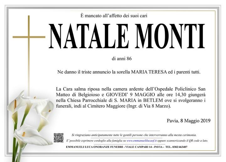 Necrologio di NATALE MONTI