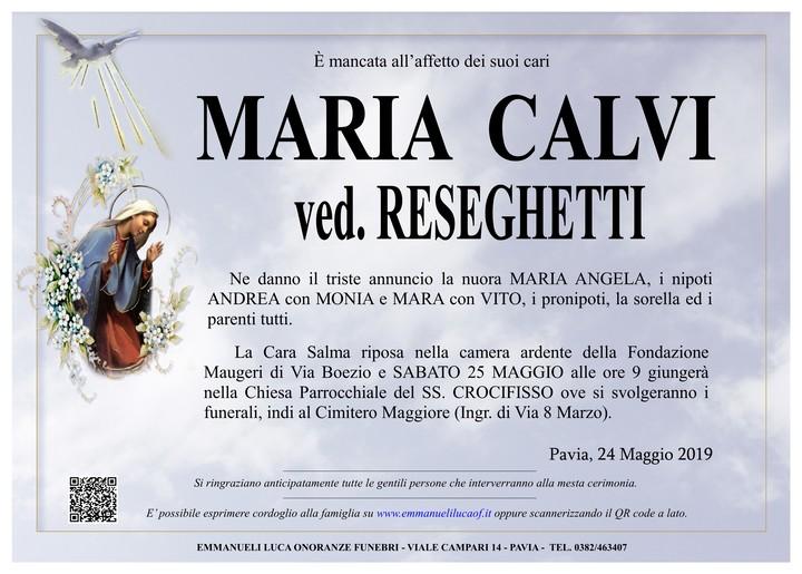 Necrologio di CALVI MARIA