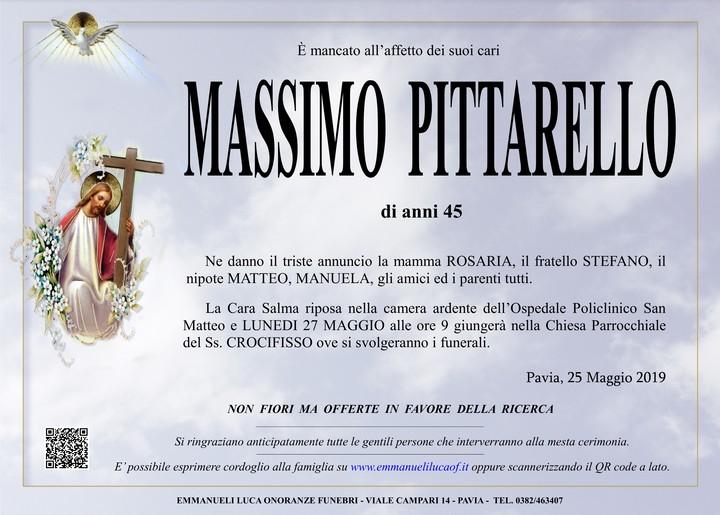 Necrologio di PITTARELLO MASSIMO