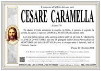 Necrologio di CESARE CARAMELLA