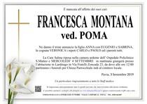 Necrologio di MONTANA FRANCESCA ved. POMA