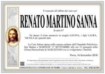 Necrologio di SANNA RENATO MARTINO