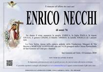 Necrologio di NECCHI ENRICO