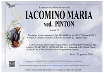 Necrologio di IACOMINO MARIA