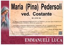 Necrologio di PEDERSOLI MARIA