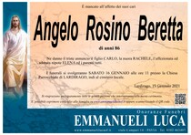 Necrologio di BERETTA ANGELO ROSINO