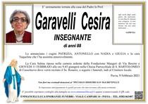 Necrologio di GARAVELLI  CESIRA