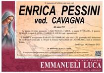 Necrologio di PESSINI ENRICA Ved. CAVAGNA