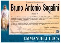 Necrologio di SEGALINI BRUNO ANTONIO