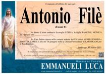 Necrologio di FILE' ANTONIO