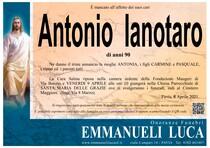 Necrologio di IANOTARO ANTONIO
