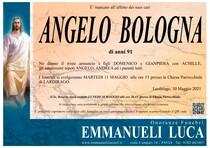Necrologio di BOLOGNA ANGELO