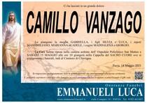 Necrologio di VANZAGO CAMILLO