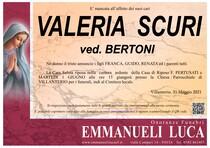 Necrologio di SCURI VALERIA ved. BERTONI